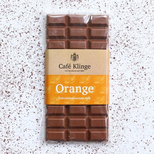 Vollmilchschokolade 40% Orange