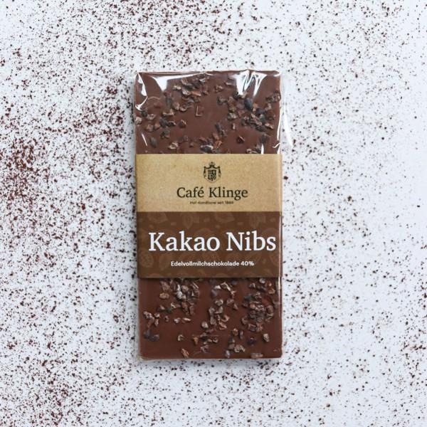 Edelvollmilchschokolade Kakao Nibs