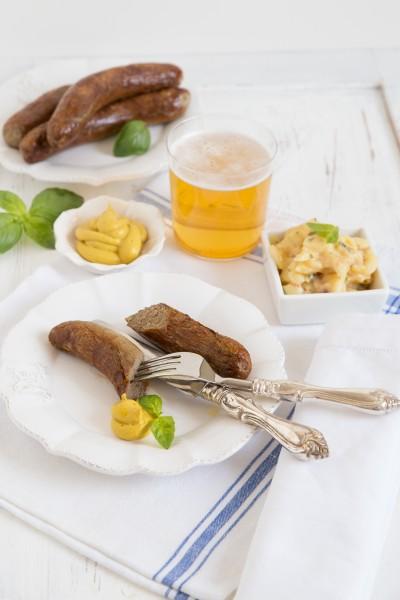 Wasserbüffel Bratwurst, 4 Stück