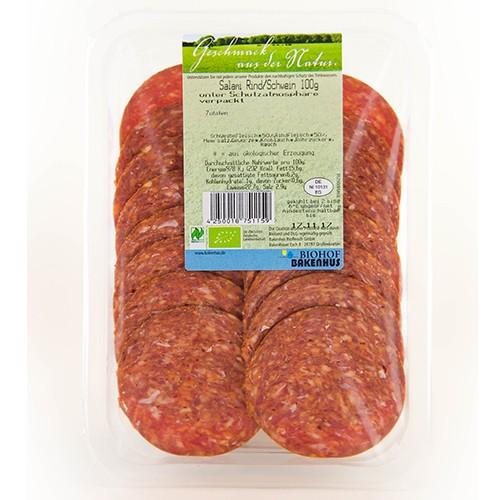 Bio Salami Rind und Schwein im Aufschnitt