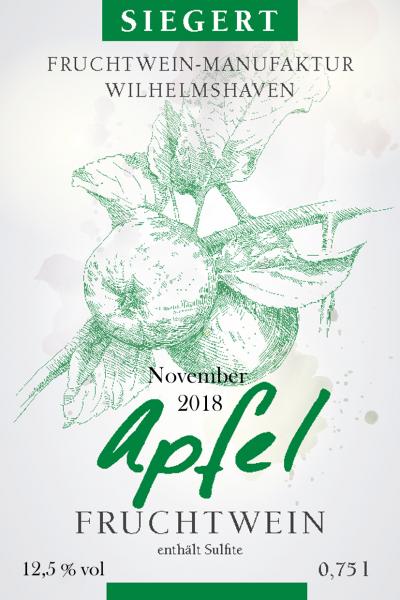Apfelwein, November 2018, mild