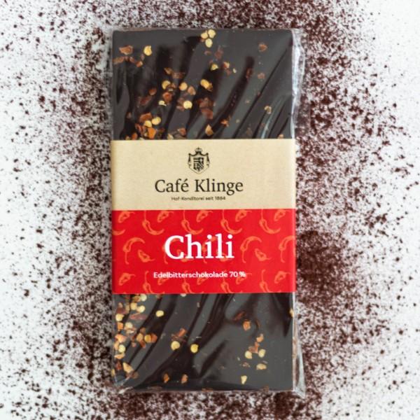 Edelbitter Chili Kakaogehalt 70%