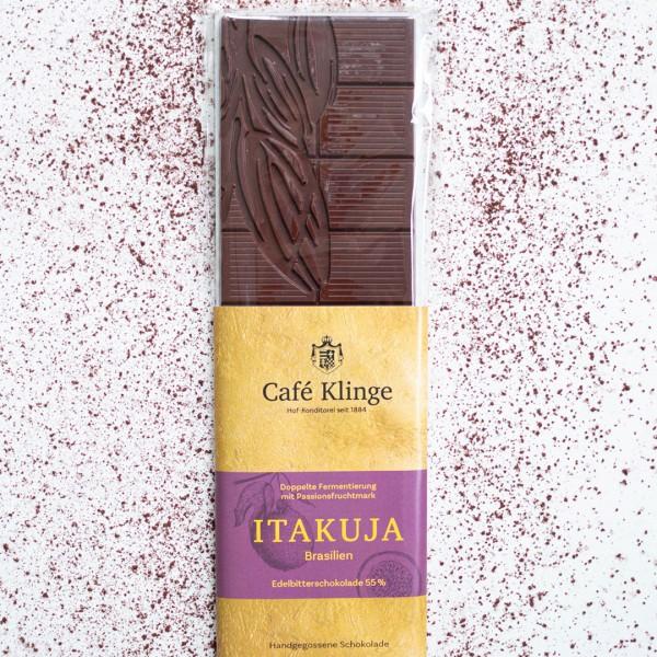 Itakuja Edelbitterschokolade mit Passionsfruchtmark 55% Kakaogehalt
