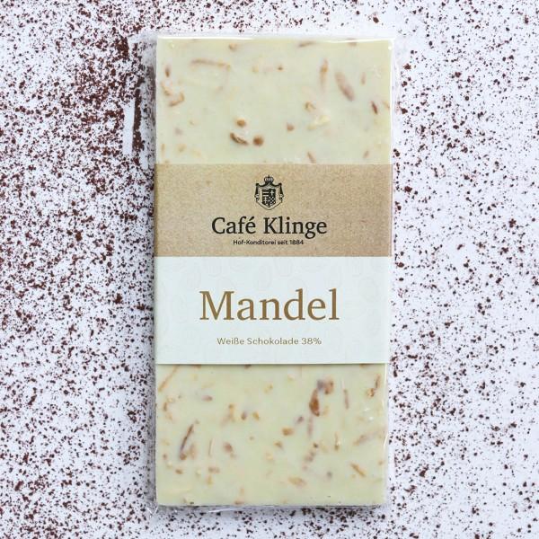 Weiße Schokolade 38% mit Mandel