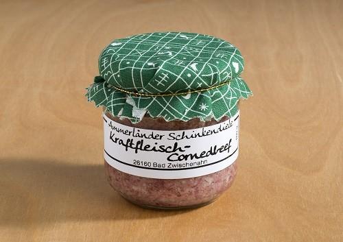 Kraftfleisch-Cornedbeef im 160g-Glas
