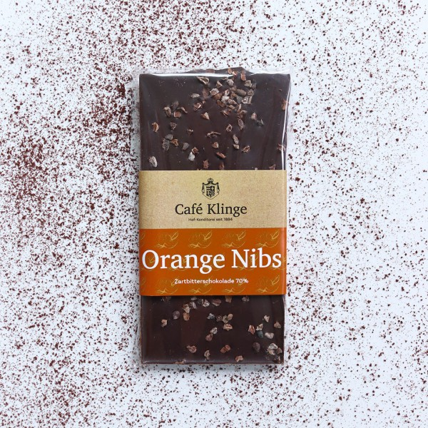 Orangen Nibs Zartbitterschokolade