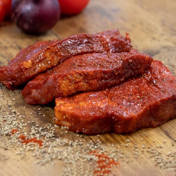 Schweinenackensteaks Paprika