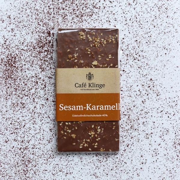 Sesam-Karamell Edelvollmilchschokolade