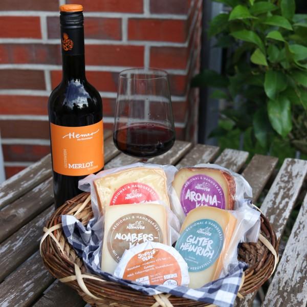"""Probierpaket """"Käse & Wein"""""""