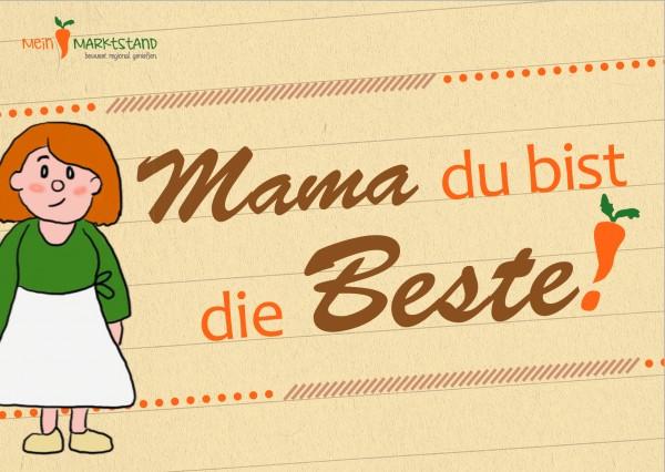 Grußkarte - Mama ist die Beste