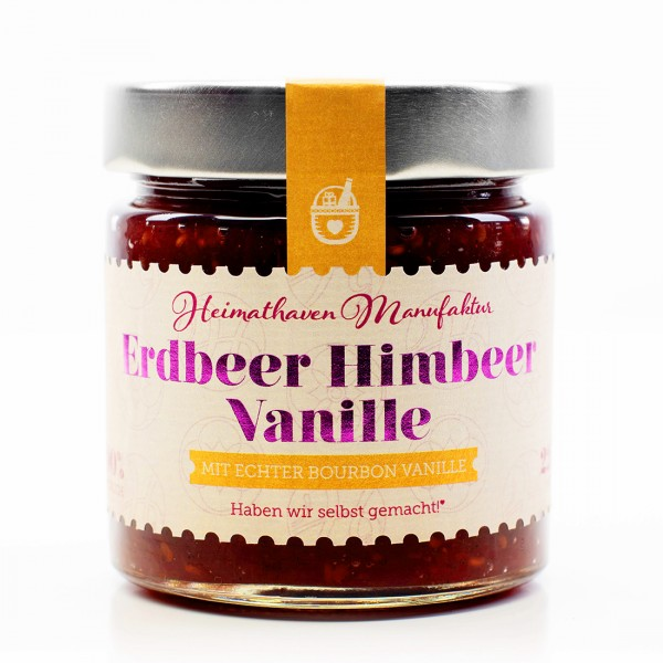Erdbeer Himbeer Vanille Fruchtaufstrich / 225g