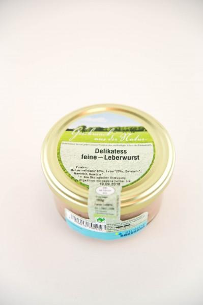 Bio Delikatess Leberwurst fein