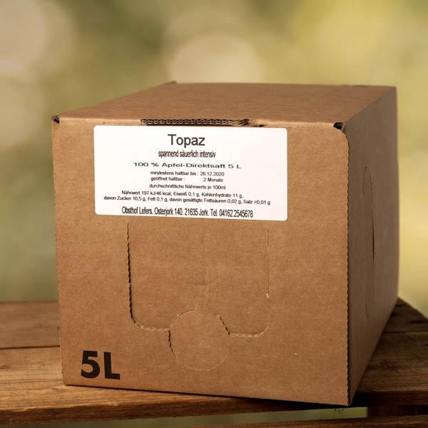 Sortenreiner Bio-Apfelsaft Topaz 5l