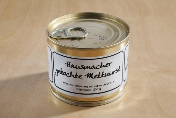 Hausmacher Mettwurst gekocht | 200g Dose