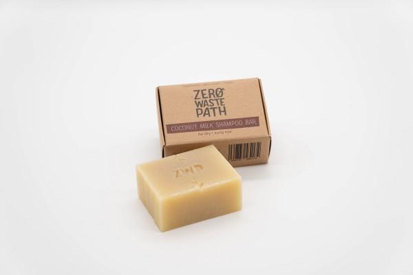 Zero Waste Path Shop Haarseife - Coconut Milk (Trocken&Lockig)