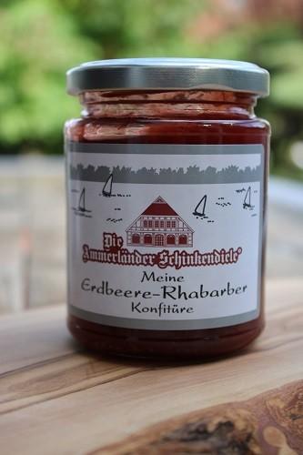 Meine Erdbeer & Rhabarber Konfitüre, 250g