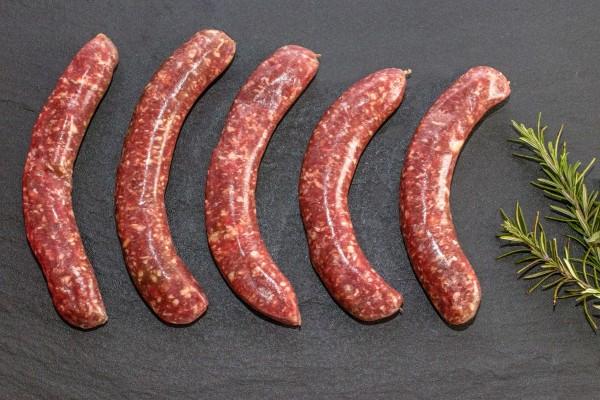 Grobe Rinder-Bratwurst