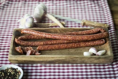 Knoblauch-Knabbersalami, 5 Stück 250g