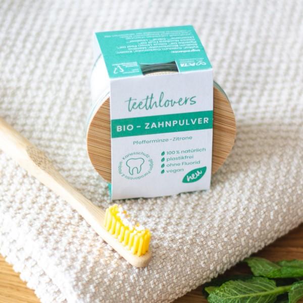 Bio Zahnpulver Pfefferminze-Zitrone