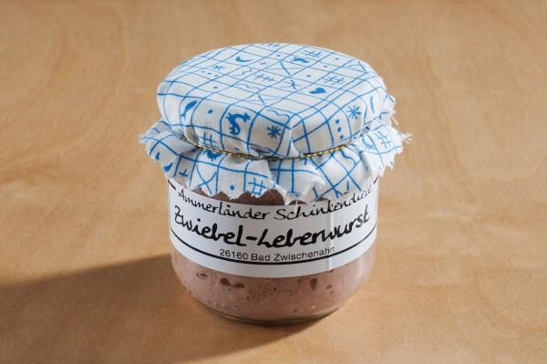 Zwiebelleberwurst im 160g-Glas