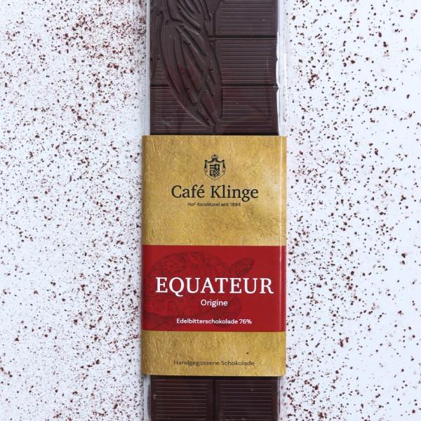 EQUATEUR - Edelbitterschokolade 76%