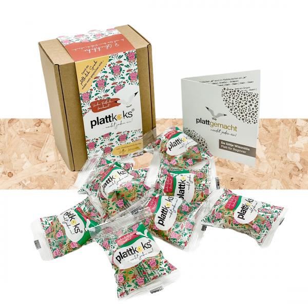 """Original Plattkeks® 8er Geschenkbox """"Ostfriesenrose"""""""
