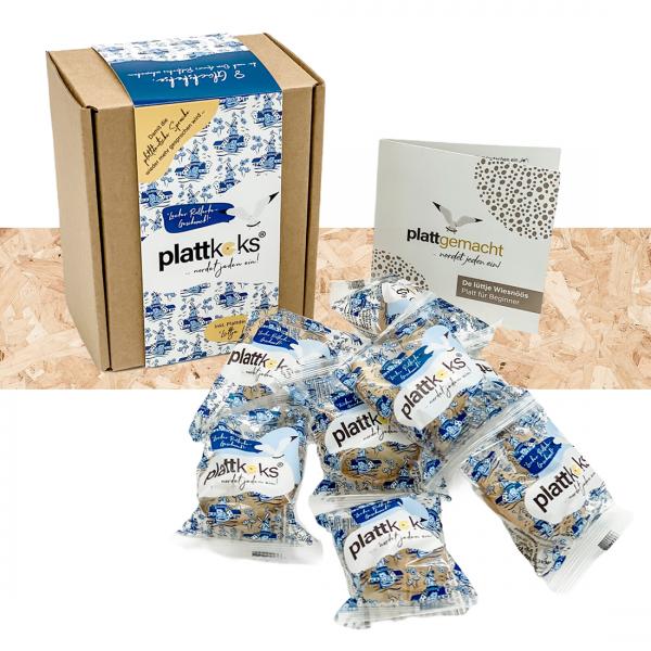 """Original Plattkeks® 8er Geschenkbox """"Blaue Mühle"""""""