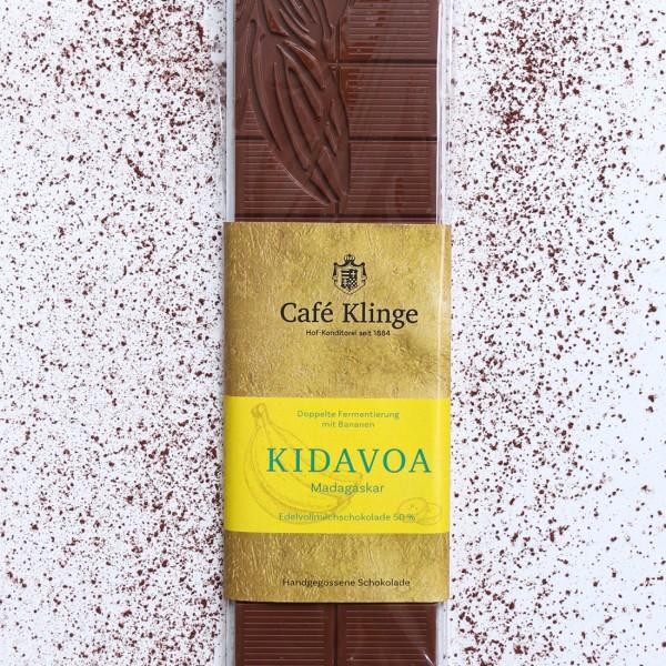 KIDAVOA - Edelvollmilchschokolade 50%