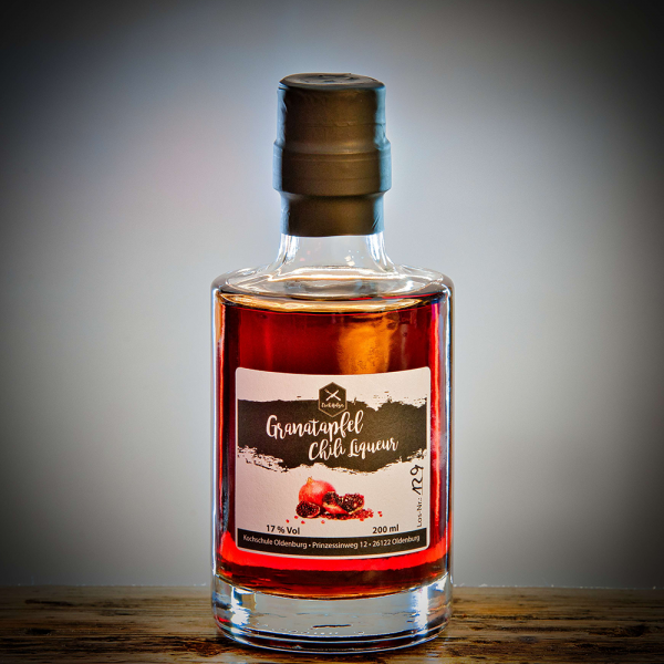 Granatapfel-Chili Liqueur (Likör)