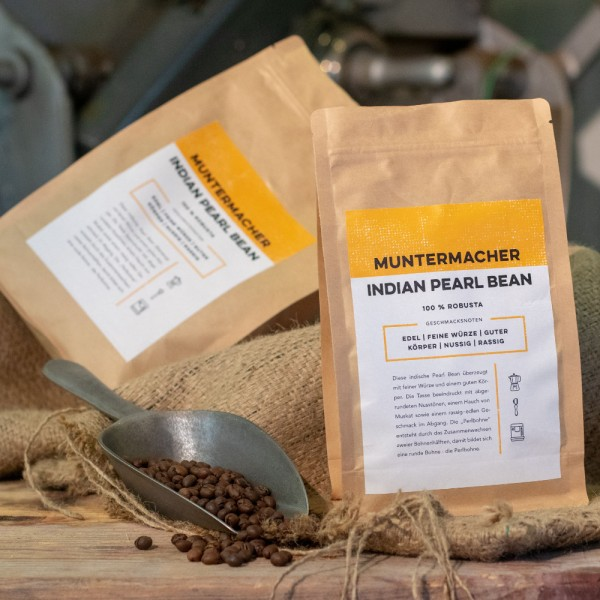 Kaffee Muntermacher Indian Perl Bean