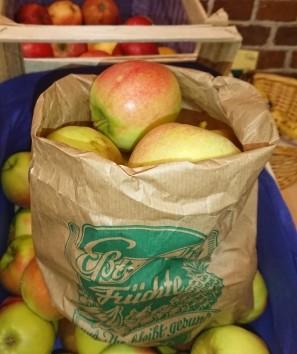 "Apfel ""Elstar"" aus Langförden, Oldenburg, knackig saftig süß-säuerlich"