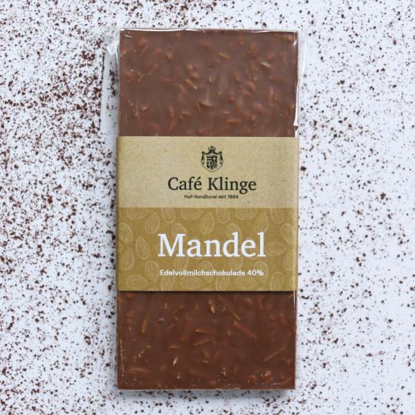 Edelvollmilchschokolade 40% mit Mandel